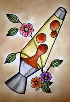 Traditional tattoo ' Lava Lamp ' by Psychoead