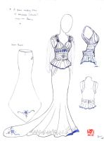 Wedding Dress Sketches 5 by winter-fall