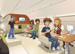 LeadsVille crew on plane by SOSFactory