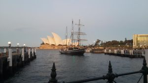 Tall Ship on Sydney Harbour by FranRose