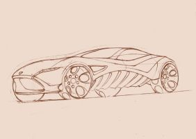 car sketch by Morfiuss