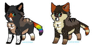 Contest Pups- 3rd place price by LizzysAdopts