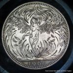 Falling Angel Hand Engraved Penny by Shaun Hughes by shaun750
