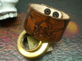 Steampunk Pirate Cuff by Skinz-N-Hydez