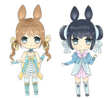 Adoptables: Bunny set [CLOSED] by MidnightAdoptss