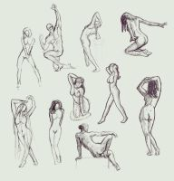 Figure Drawing Studies 1 by an0ther-artist