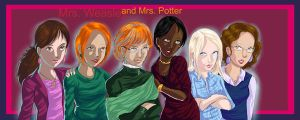 Mrs. Weasley and a Mrs. Potter by Renee15