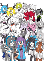 My Sonic Fan Charas by UnknownSpy