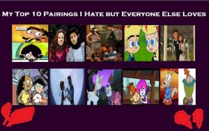 10 Pairings I Hate But everyone Else Loves by Toongirl18