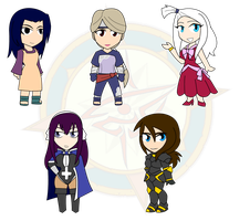 Assorted Chibis - Naruto, Fairy Tail and... by Dragon-FangX