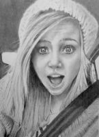 Selfies in the car by JaneyArt