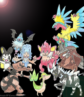 Commission: Pokemon Collage Team 9 [DONE] by MariiCreations93