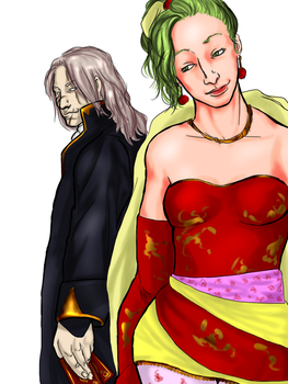 Terra and Setzer - FF6 by 00-TabulaRasa-00
