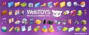 Webtoys 50 icons by LazyCrazy