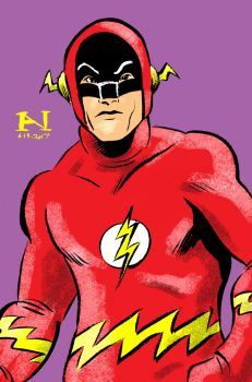 Adam West as the Flash by IanJMiller