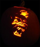Werewolf City Pumpkin - 2006 by CarverOfPumpkins