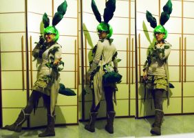 Cosplay Leafeon by LadyAstral