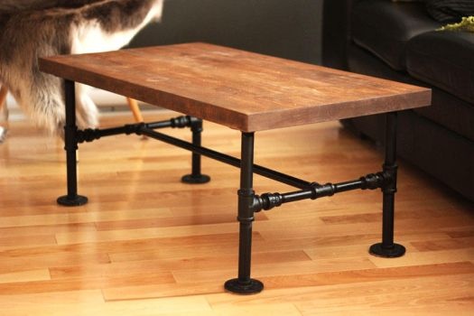 DIY Iron pipe Table by Nothing-Z3N