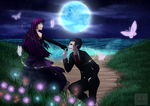 [May I Have This Dance?] Onisuke and Aivi by ScarletKnightmare