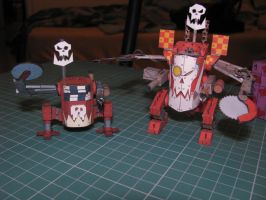 Greenskins - Warhammer 40k - Papercrafts by kotlesiu