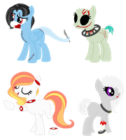GORETOBER ADOPTS ( 3-6 ) [CLOSED] by peridope