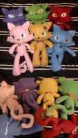 Cats with Hearts Plush by Lemonpez