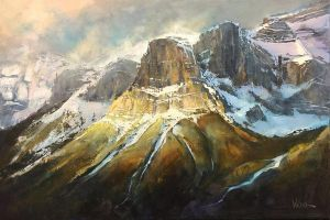 Morning Light in Canmore by artistwilder