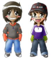 Chibi Aaron and Mary by TwilitAngel