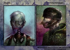 nazi zombies by mikernaut
