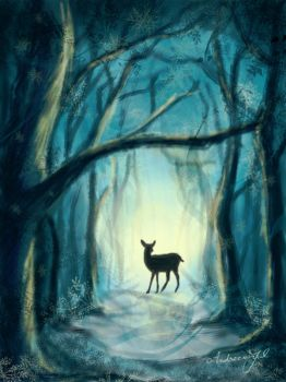 Deer forest by AndreeaIuliana