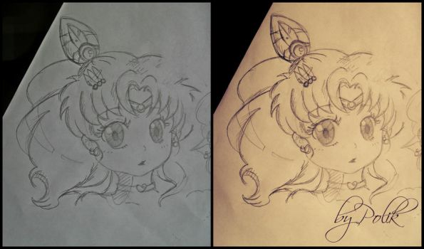 Sailor Chibi Moon sketch by Polik95