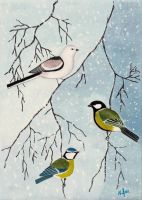 Winter birds by Wolverica
