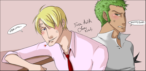 Zoro and Sanji - For Ana by nyb