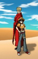 Vash and Alice by xLunaxDarkangelx