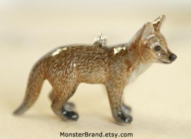 Red Fox Necklace by MonsterBrandCrafts