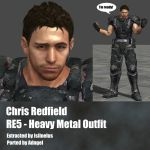 Chris Redfield RE5 Heavy Metal Outfit by Adngel