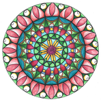Mandala 2 Coloured by Samishii-Kami