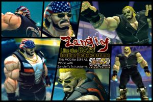 SSF4AE Zangief - BASS's leather jacket costume MOD by dsFOREST