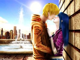 NaruHina Realism - First Kiss by Bandico
