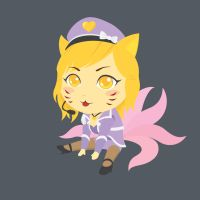 Chibi Ahri by temperolife