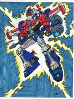 POWERMASTER OPTIMUS PRIME ANIMATED (in color) by VectorMagnus2011