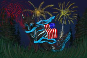 Reuben On Independence Day by Cougar28