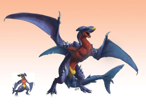 Realistic Pokemon: Garchomp by ReneCampbellArt