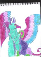 Colorful Griffin by epicfail107