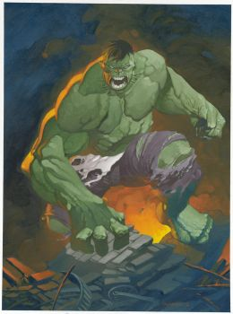 Hulk oil painting by ChristopherStevens
