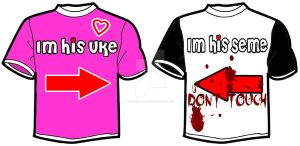 :ONL: Yaoi Couple Shirt - Protective Seme by overnightlover