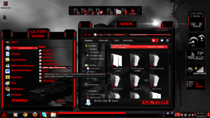 Windows 7 Themes Red Ultra Dark by newthemes