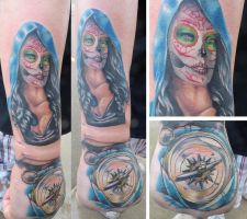 Girl and compass by Dripe