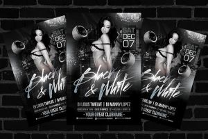 Black and White Flyer Template by LouisTwelve-Design