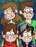 The Pines Family Portrait by JFMstudios